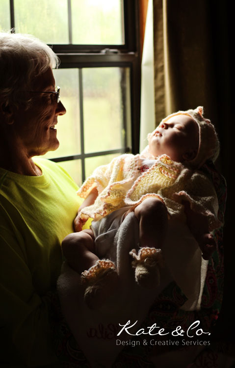 Here's Lila with her grandma. We had to get everyone to jump in and take advantage of the light...except me :-P