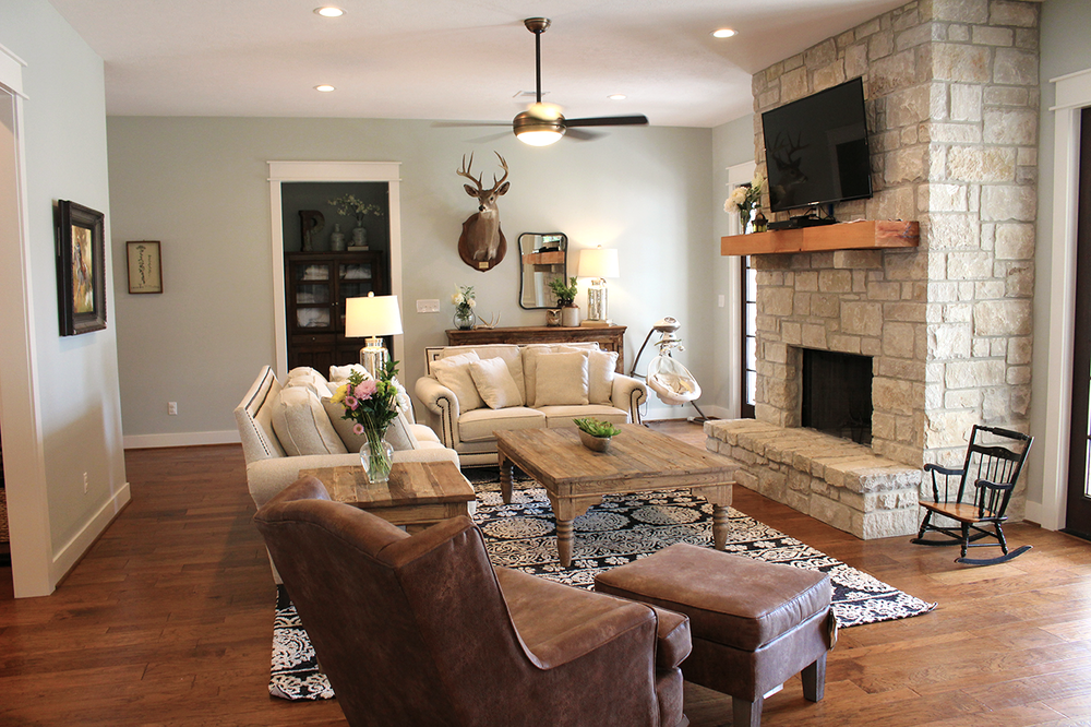 I love our living room. I love our rug. I love our furniture. I love the fireplace. I love it all. In case you're wondering, yes, that rug is part of the  Lotus Collection  from Magnolia Home x Loloi. Most of the furniture in our home came from  our store . It can be yours, too. <wink, wink>