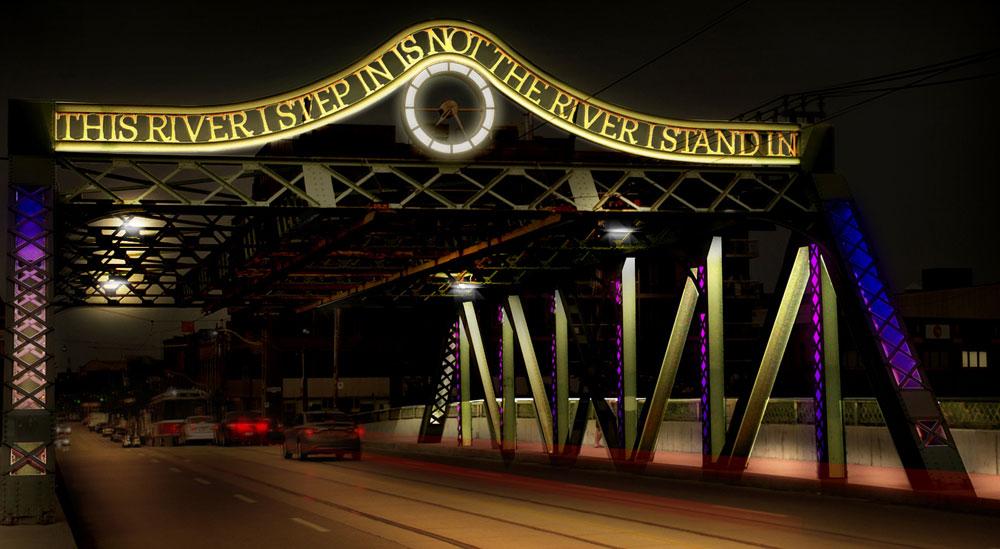queen street bridge lighting