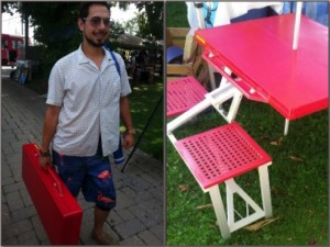leslieville flea folding table