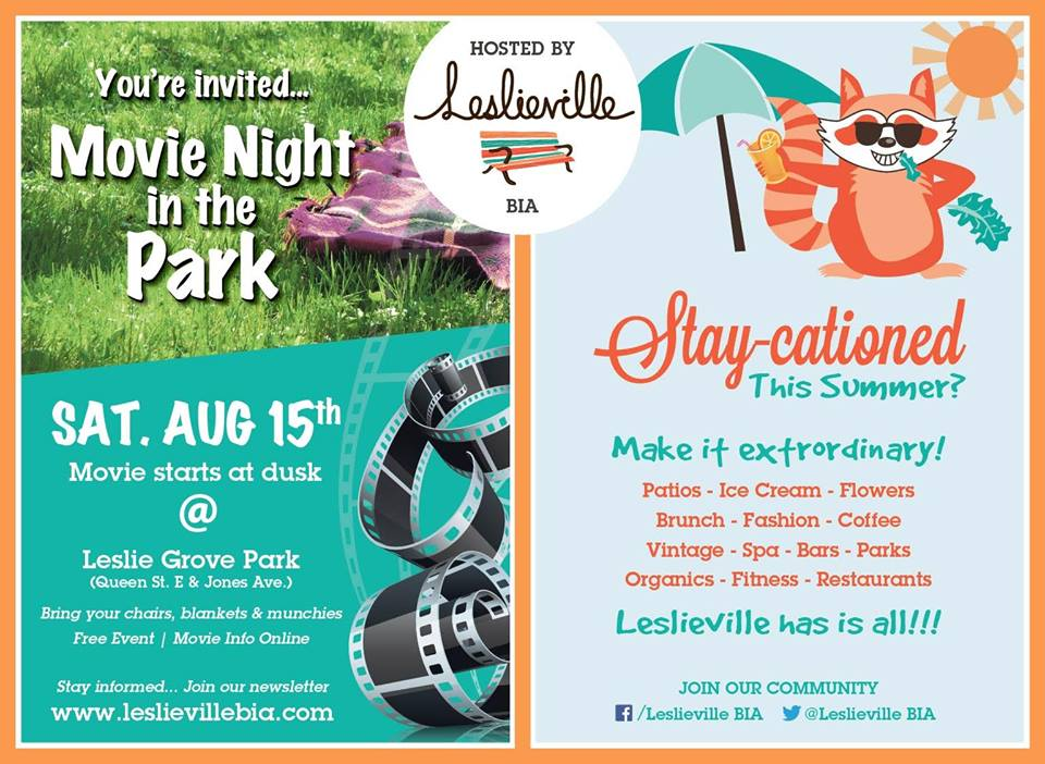 The Leslieville BIA Presents: Movie Night in the Park (E.T.)