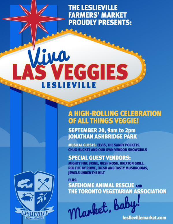 Viva Las Veggies Leslieville Farmers' Market 2015