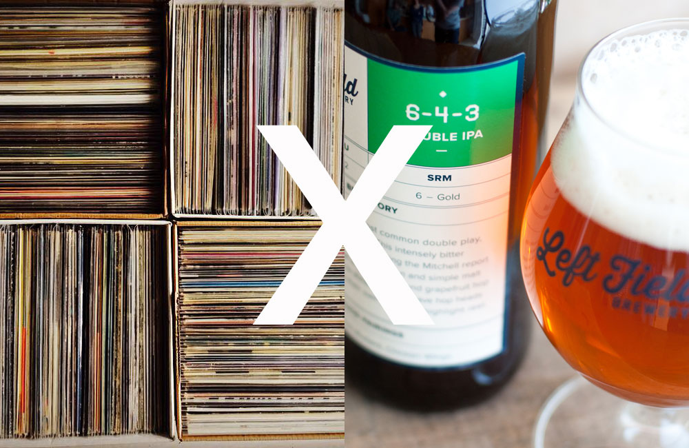 leftfield brewery x tiny record shop