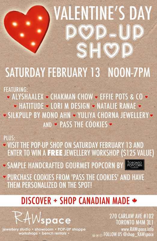 Valentine's Day Pop-Up Shop at RAWSpace
