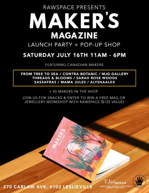Maker's Movement Magazine Launch Party + Pop-Up Shop