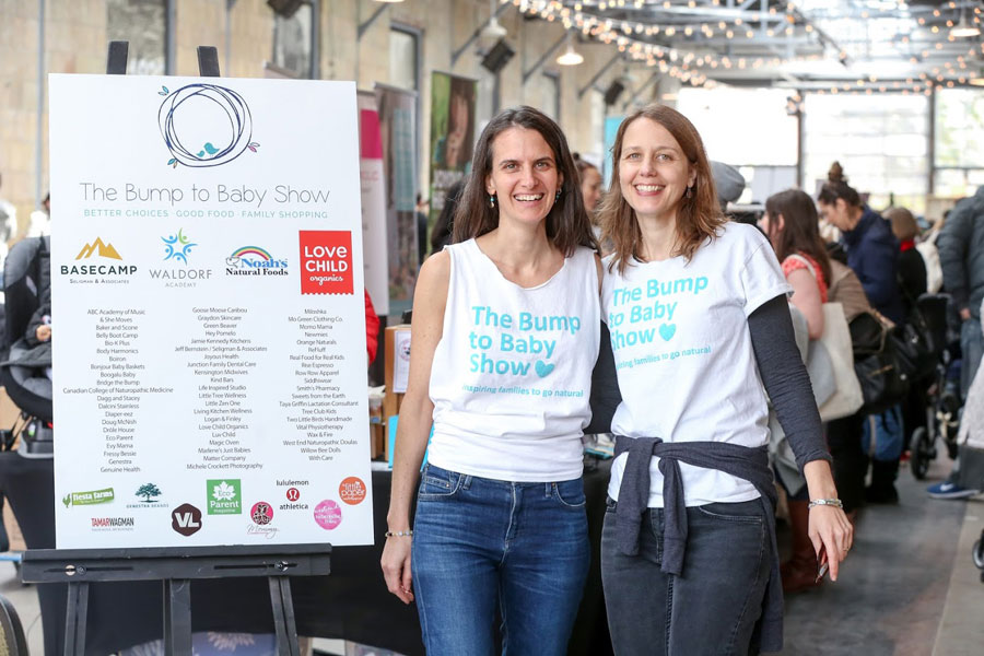 Rachel Schwartzman and Mira Heitz, founders of The Bump to Baby Show. Photo: The Bump to Baby Show