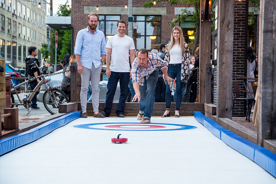 Photo:  Street Curling