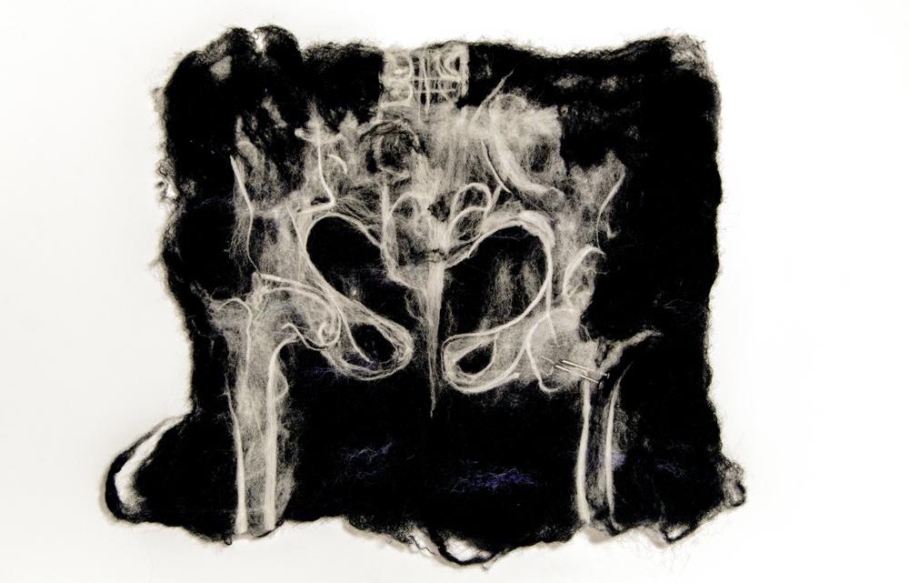 "pelvis. 2013.merino wool, nails, 15"" x 19.25"""