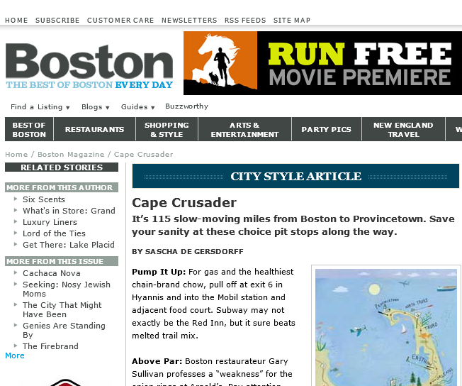 "Boston Magazine ""Cape Crusader"""