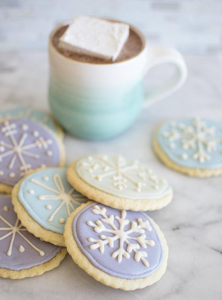 Snowflake Lemon Ginger Sugar Cookies Colorkitchen