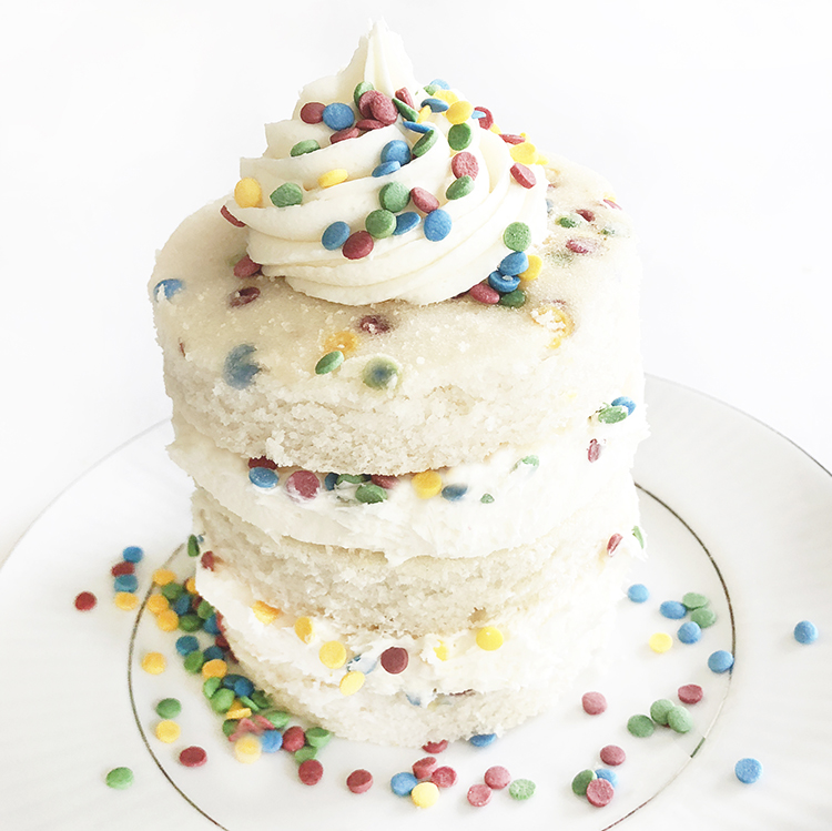 Rainbow Confetti Birthday Cake Gluten Free Colorkitchen