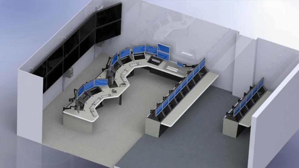 Robotics Camera Control Room Rendering