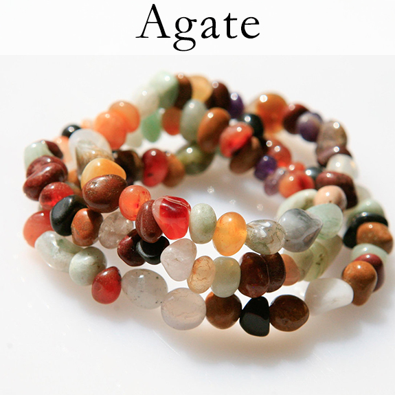 Agate is a stone of all-around good luck and positive outcomes. It promotes grounding, balance and self-confidence so you can have a peaceful mind while you go about getting exactly what you want.