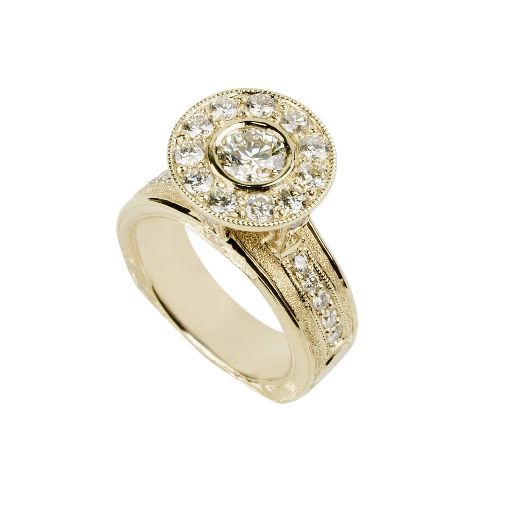Gold Diamond Queen Ring by Waylon Rhoads Jewelry