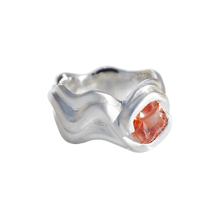 WRJ Original Oregon Sunstone and Sterling Silver Ring