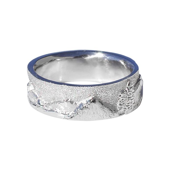 Platinum Landscape Ring