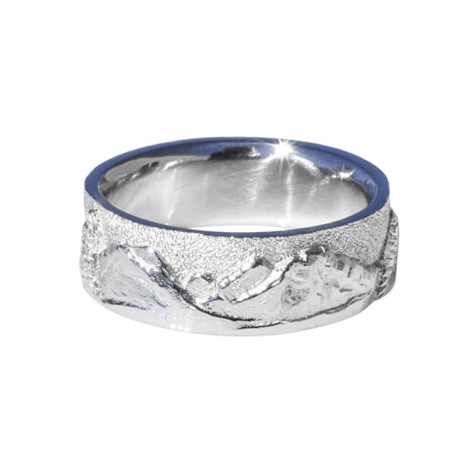 Platinum Mountain Ring