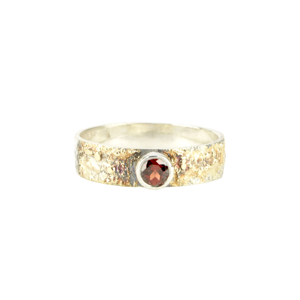 Gold Fusion Ring with Fire Citrine