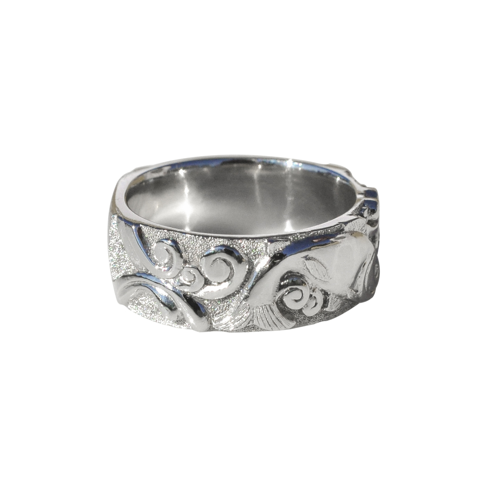 Waylon Rhoads Original Platinum Salmon Ring with Diamonds