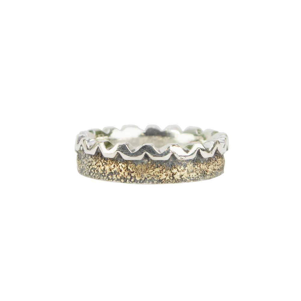 Zig Zag Gold Fusion Ring