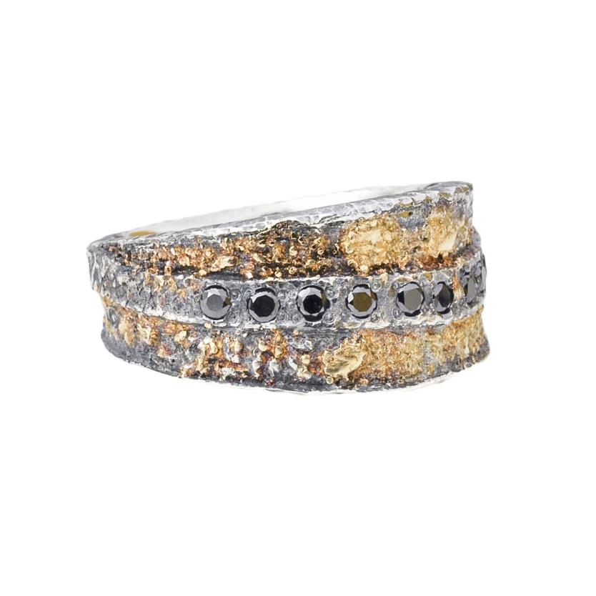 Black Diamond Gold Fusion Ring