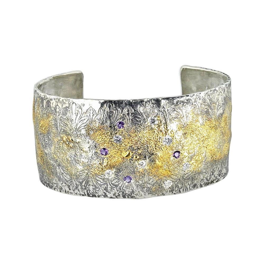 Fusion Concepts 18k and Oxidized Silver Cuff