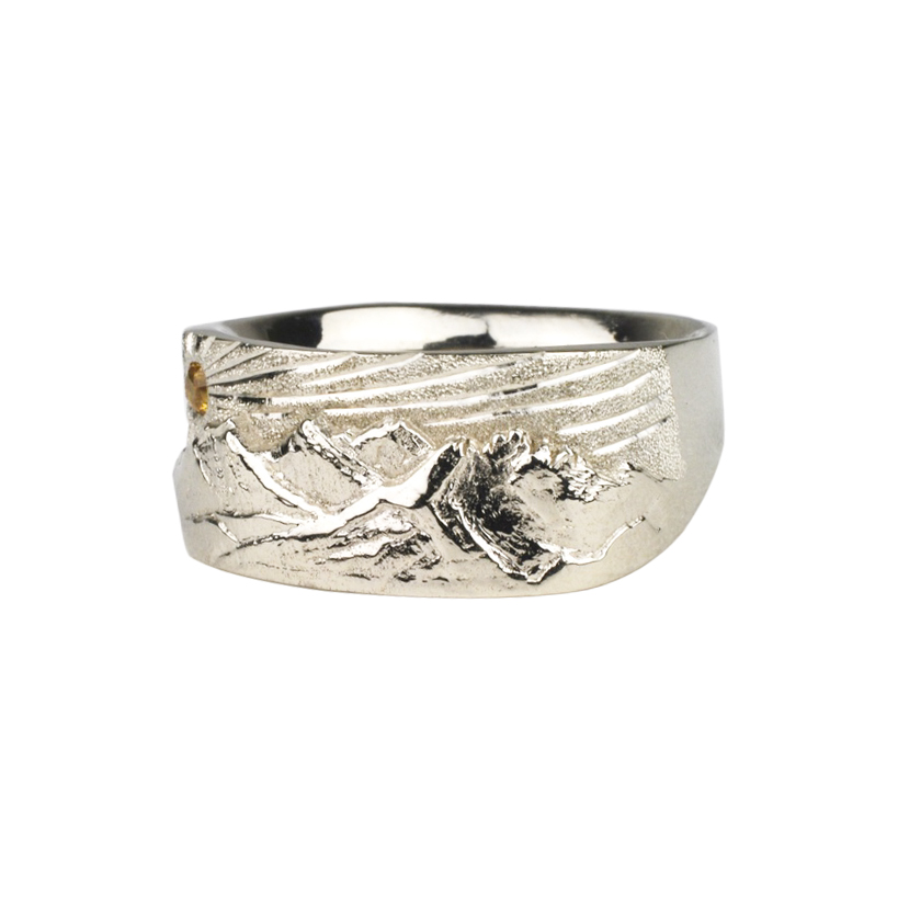 14kw Gold Hope, Faith, Charity and Broken Top Ring