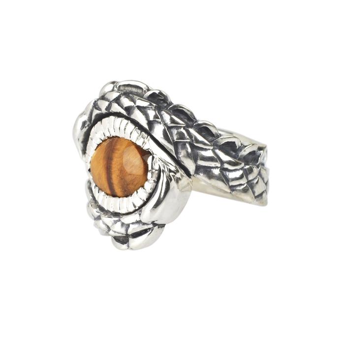 Tigers Eye Dragon Ring