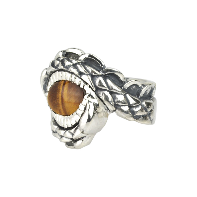 Tigers Eye Dragon Ring