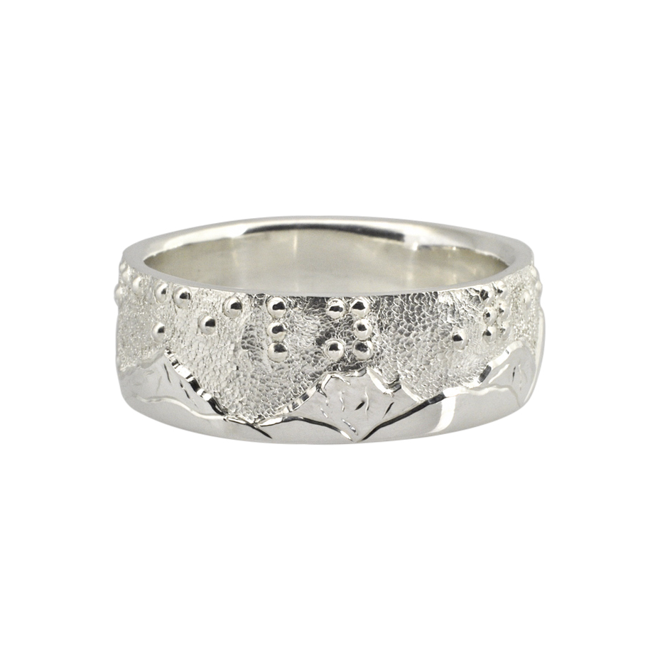 Braille Landscape Ring
