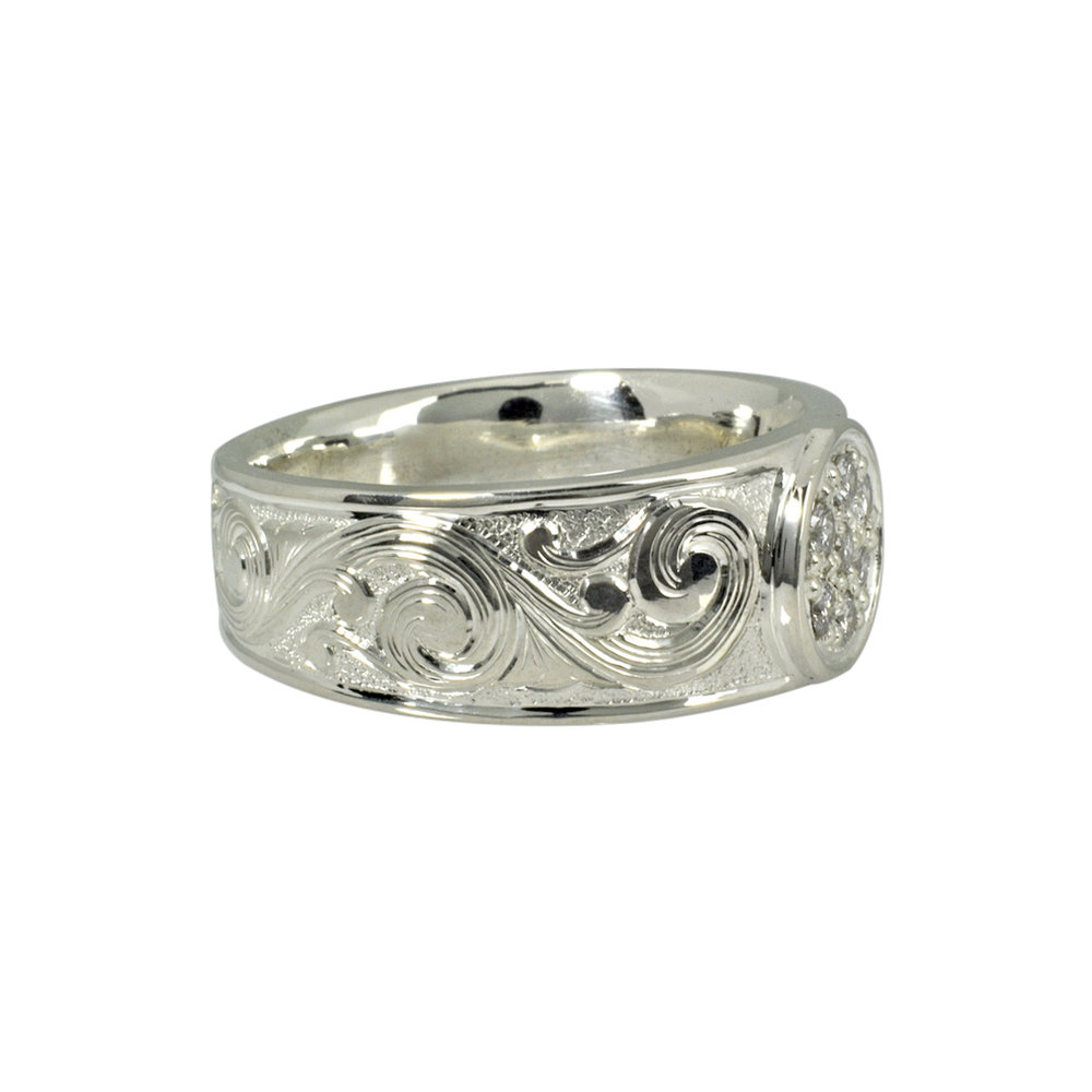 Sterling Silver and Diamond Wedding bands