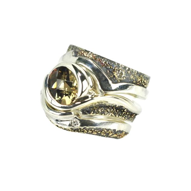 Oregon Sunstone Gold Fusion 3 piece Ring Set