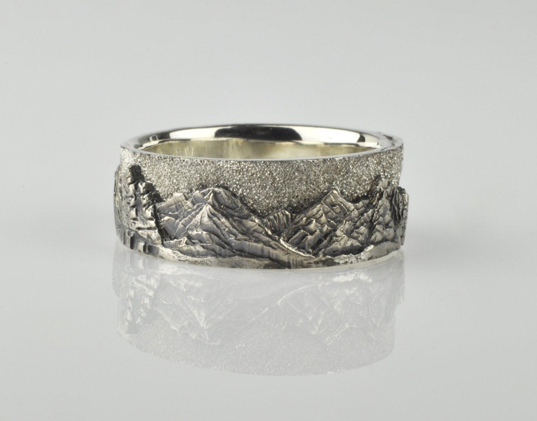 Sterling Silver Mountain Landscape Ring — Waylon Rhoads Jewelry