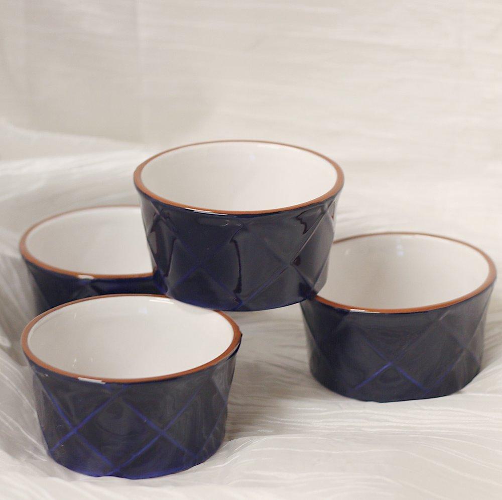 Blue Embossed Ramekins ($6 each)