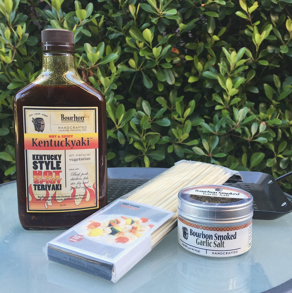 Kentuckyaki BBQ Sauce ($9) and Bourbon Garlic Salt ($8)