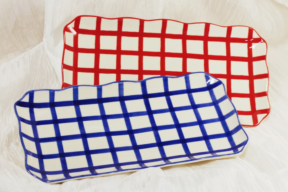 Checkered Serving Trays ($22 each)