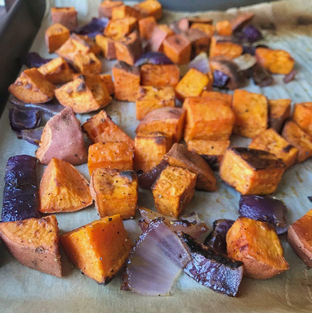 roasted sweet potatoes and onions.JPG
