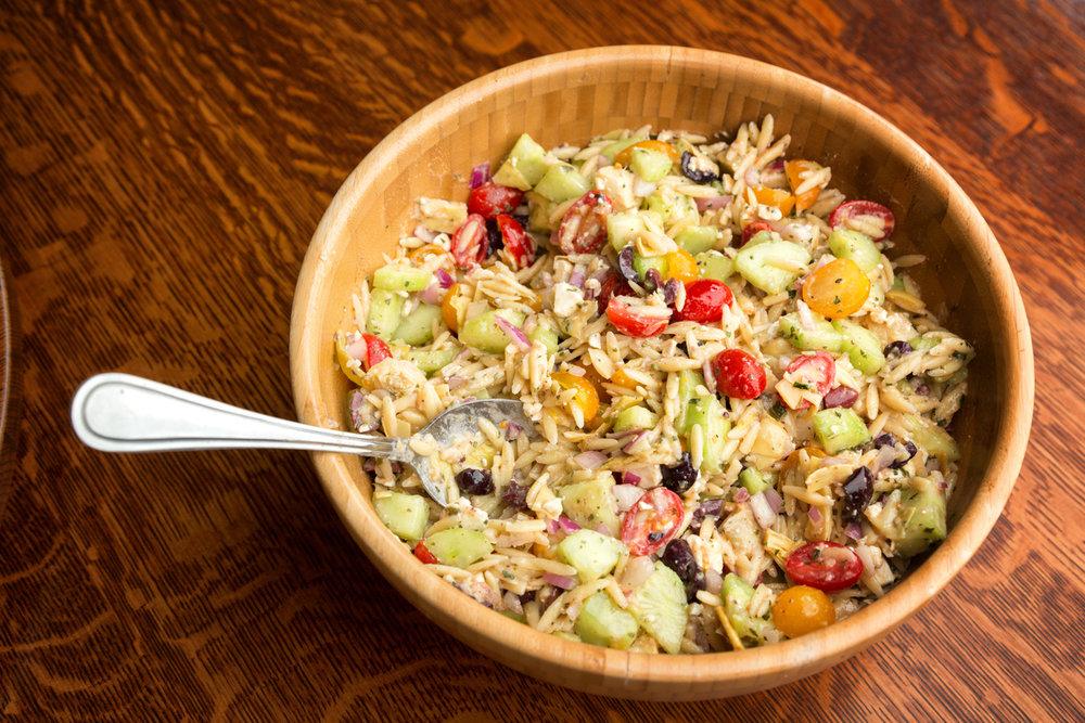 Garden Party Orzo Salad