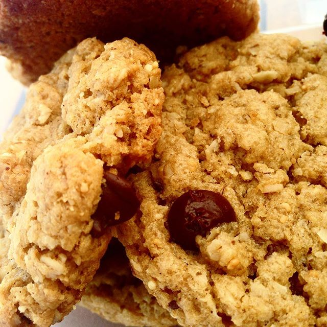 Switchin' it up! - turning our standard #WheatFree Choco-Chip #cookie into a #PeanutButter Choco-Chip cookie. #winning. // #delicious #vegan #dessert #food #eatlocal #bakery #farmersmarket #smallbusiness #chocolate #dairyfree #eggfree #bakedgoods #baking #taste