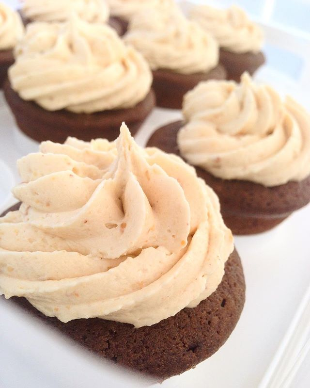 We know it's been a while since these have graced our palettes, but they're back, baby! #Chocolate #PeanutButter #Cupcakes // #vegan #veganbaking #vegancupcakes #vegetarian #eggfree #dairyfree #wheatfree #guiltfree #classic #farmersmarket #marketseason #fallmarkets #fallshere #fanfavorite #bakedgoods #eatlocal #shoplocal #maryland #hoco #ellicottcity #localmarkets #brothersisterbakery