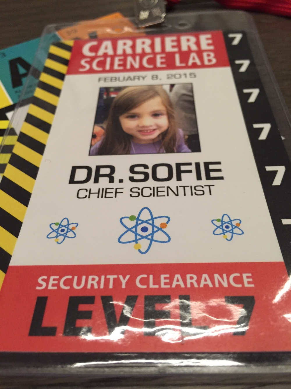 Scientist Badge PRINTED with badge cover and lanyards
