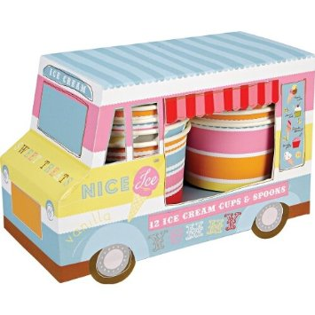 Meri Meri Ice Cream Van with Cups and Spoons