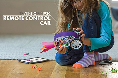 Gadgets and Gizmos Kit - A great starter set with fun projects for kids is the Gadgets and Gizmos Kit. It includes accessories, instructions and materials for 16 inventions right out of the box, such as a remote control car and bubble blowing bot. Compatible with iOS and Android devices.