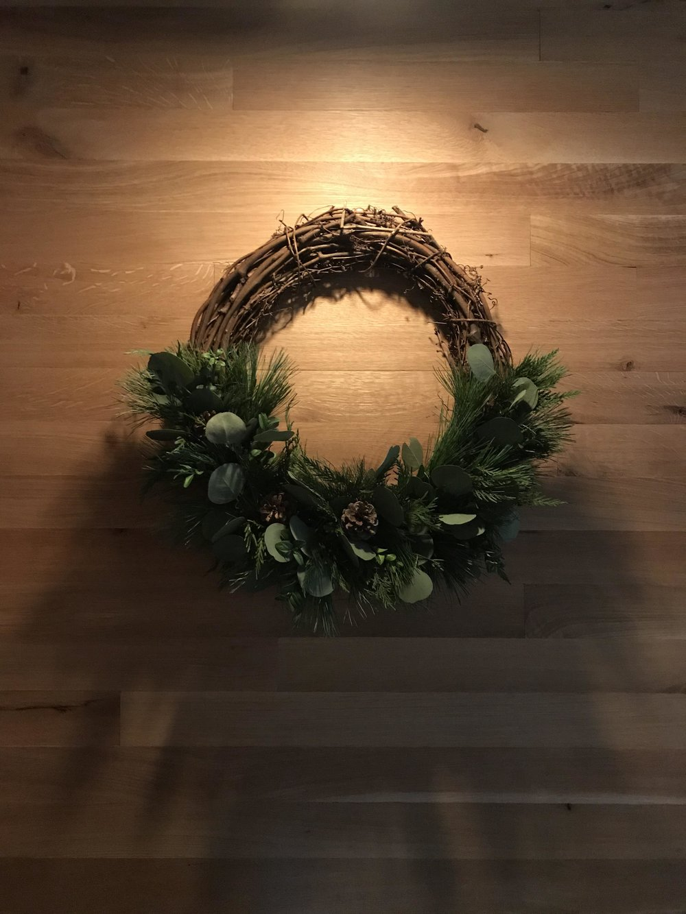 The wreath in our entryway