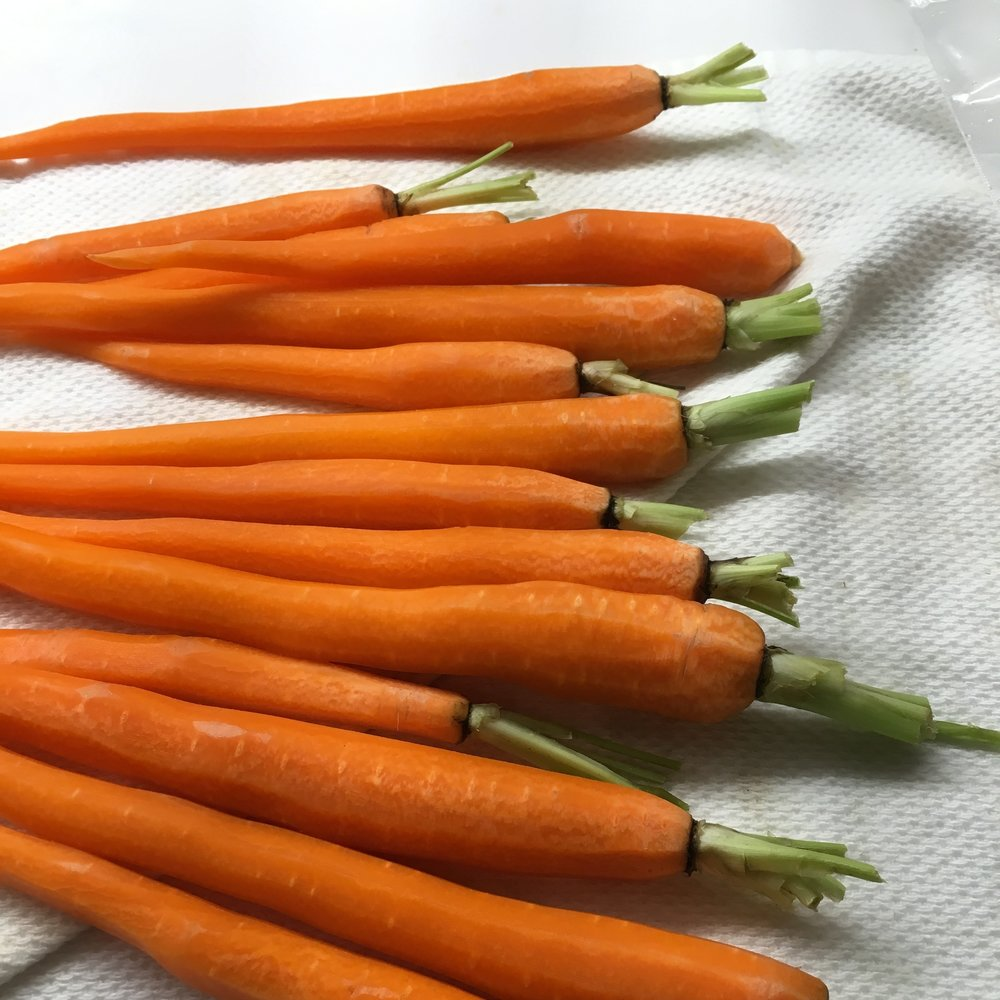 Prepped Carrots, leaving whole