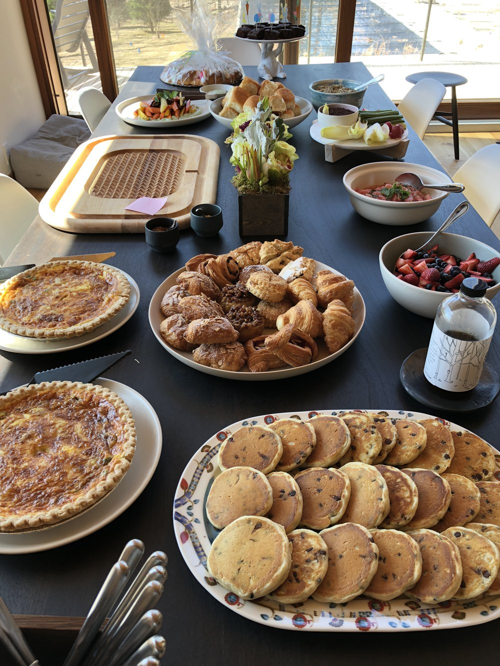 Part of our Easter Brunch spread