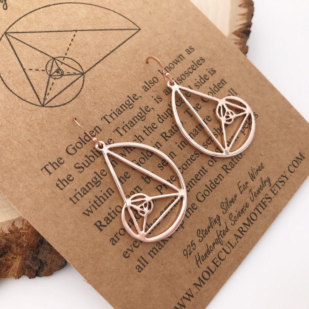 Golden Ratio Earrings - From Molecular Motifs on Etsy