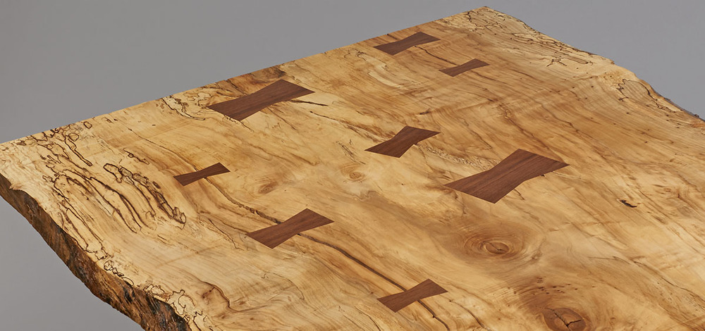 spalted maple, black walnut butterfly joints
