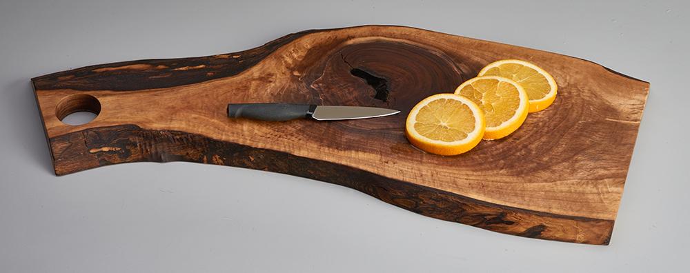 black walnut cheese board