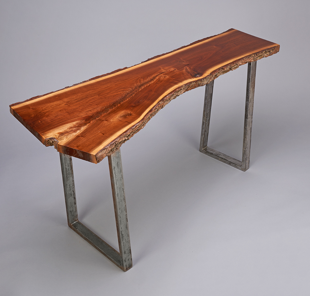 black walnut console table